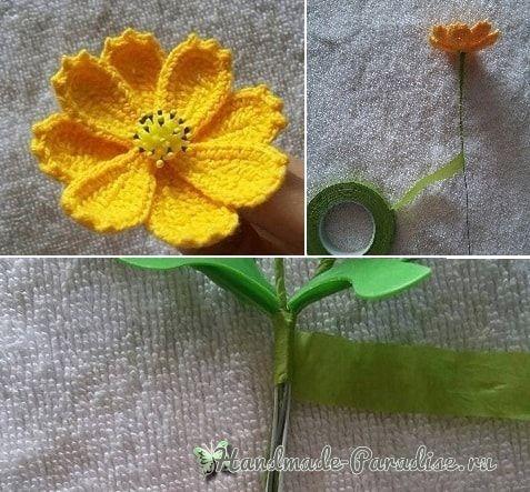 Весенние полевые цветы крючком. Схема (4)