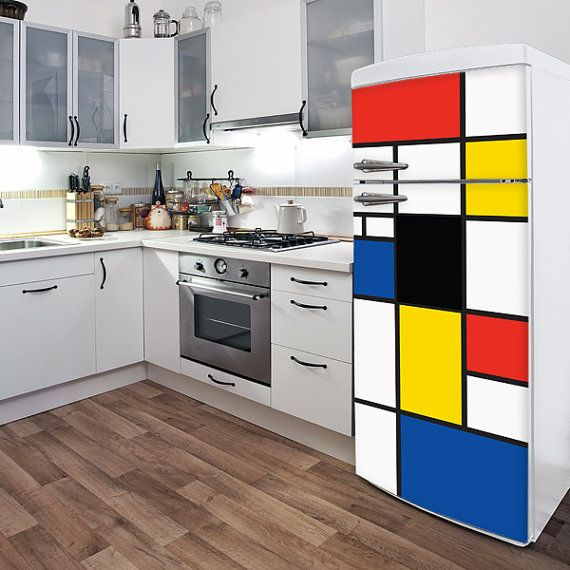 Pop Mondrian  Fridge Door Decal  Color Print by ADzif on Etsy, $65.00
