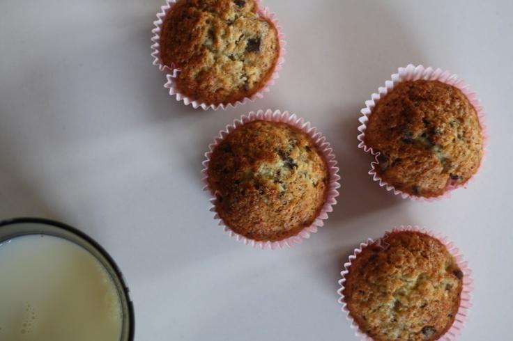 badelma-badutski: kokos-choko-bananmuffins