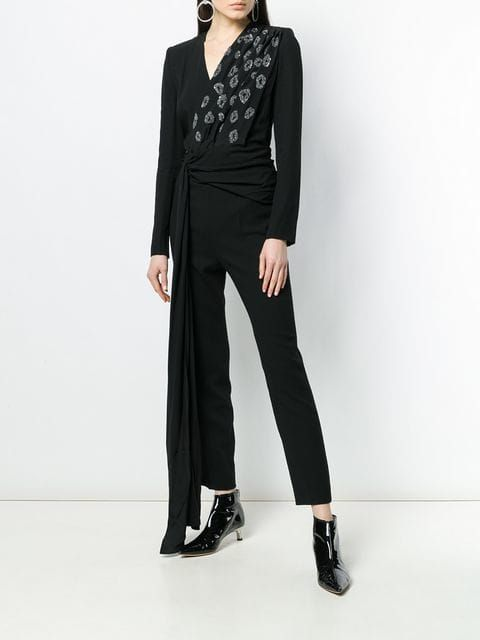 bc786903139 Givenchy Embroidered wrap-front Jumpsuit in 2019