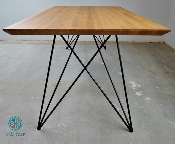 Steel Dining Table Legs 2 Beine Schmetterlingsmetall Haarpin