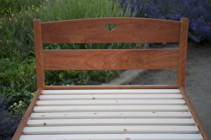 The Sunrise Bed locally made in Mount Shasta by Puritas Furniture Company!