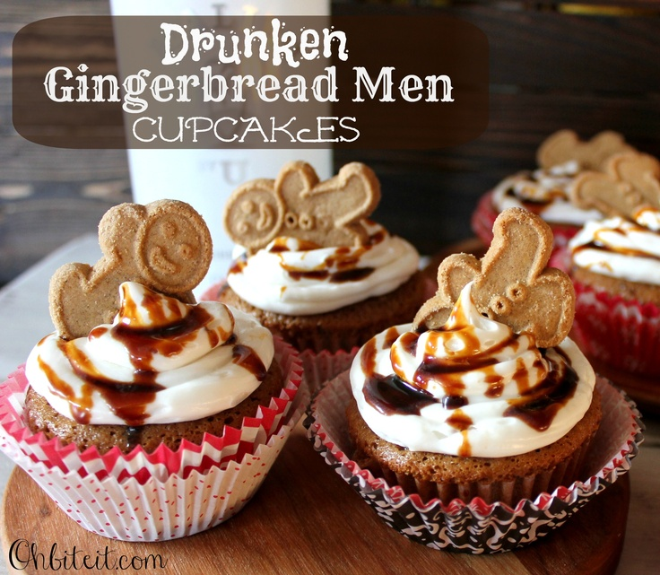 ~Drunken Gingerbread Men Cupcakes!  :)