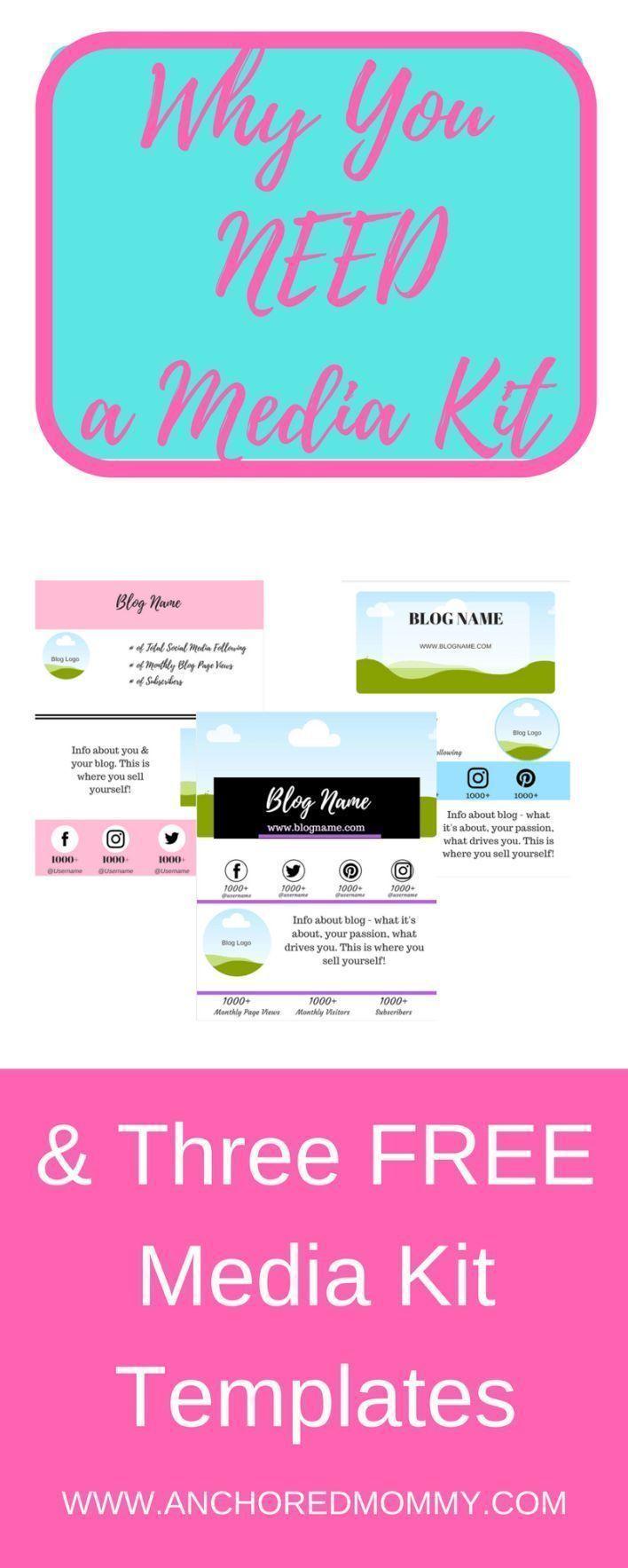 why bloggers need a media kit 3 free media kit templates
