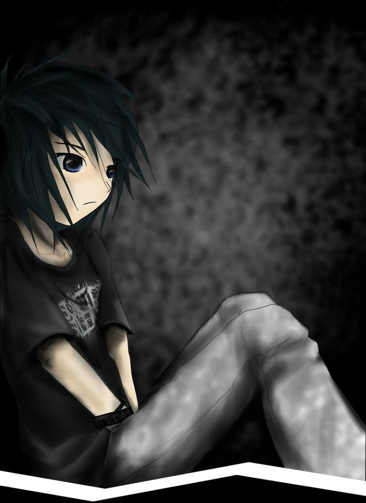 Cliques emo scene gothic boy guy anime digital