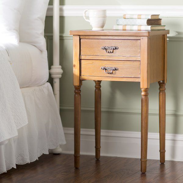 Brimming With A Softly Hued Finish And Classic Style This Poplar Wood End Table Adds Cott End Tables With Drawers End Tables With Storage End Tables