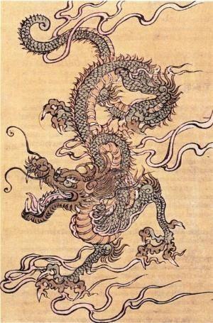 il drago cinese è  simbolo di buon auspicio perché è l'incarnazione del concetto di Yang, il Bene/Spirito-Fecondo, associato all'acqua. E' la creatura portatrice di pioggia, nutrimento per le messi e gli armenti, I cinesi pregavano il drago nei momenti di siccità e lo consideravano il padre della loro civiltà.