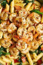 Tomato Spinach Shrimp Pasta-recipe