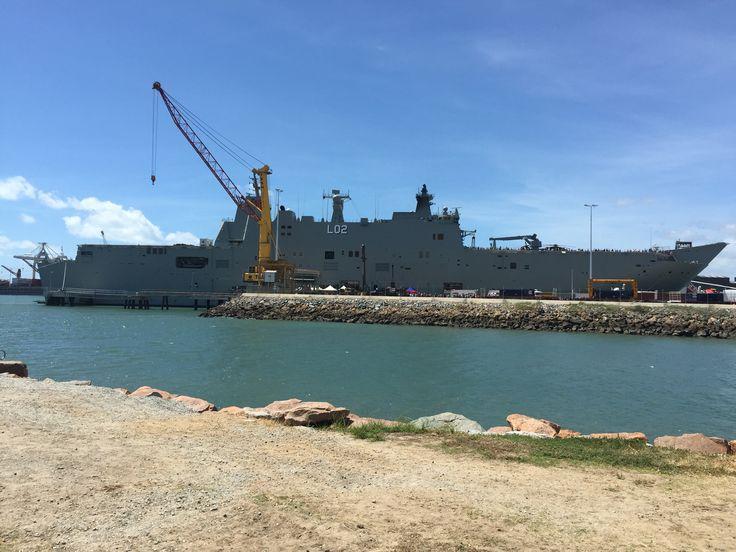 HMAS Canberra ship - Townsville Port QLD