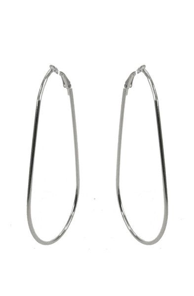 Tear 8 Hoop Earring - Silver $27.95 #leethal #accessories #fashion