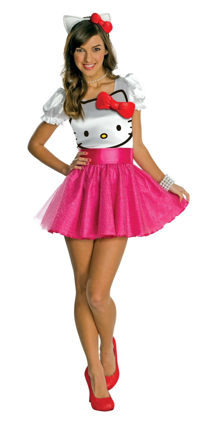 Hello Kitty - Hello Kitty Tutu Dress Teen Costume