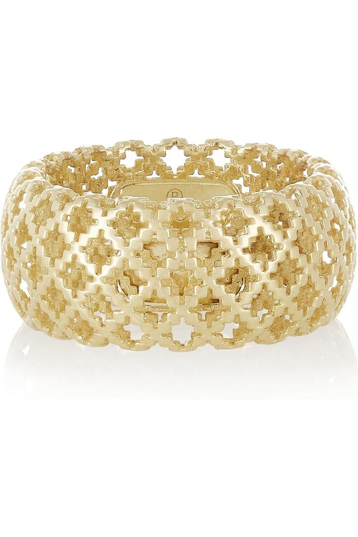 Gucci|Diamantissima 18-karat gold ring|NET-A-PORTER.COM