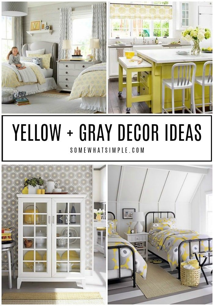 Decorating With Yellow And Gray 20 Spaces We Love Grey Decor