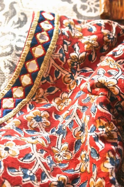 Once Upon A Tea Time.... Design Stories: Festive Season: Riiti Fashions kalamkari with mirror work