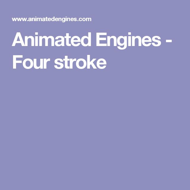 Animated Engines - Four stroke