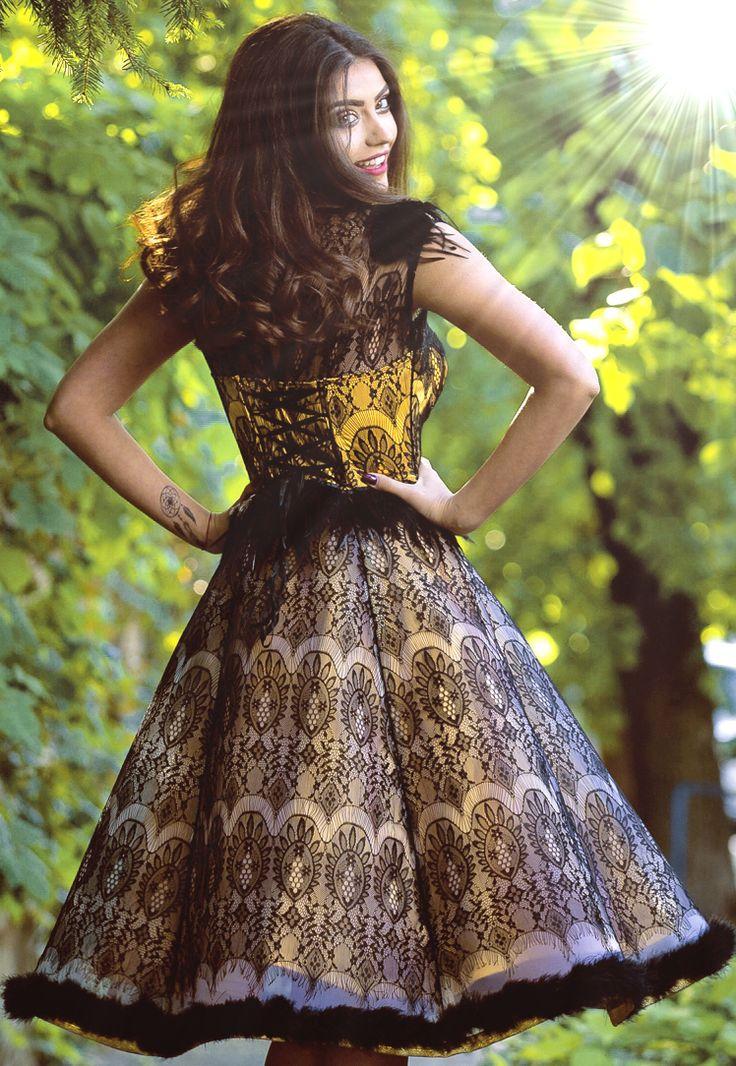Haute couture dress black lace