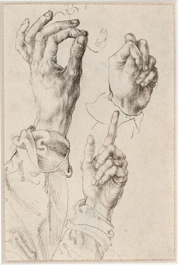 Albrecht Dürer, Hands Study, 1494/95, 27 x 18 cm, Graphische Sammlung Albertina.