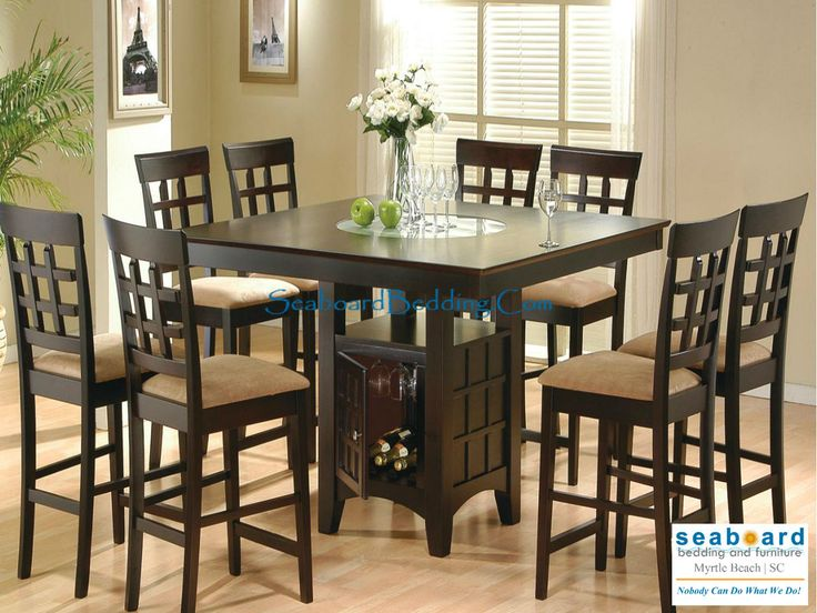 This Sleek Counter Height Dining Table And Chair Set With Four Stools Will  Be The Perfect
