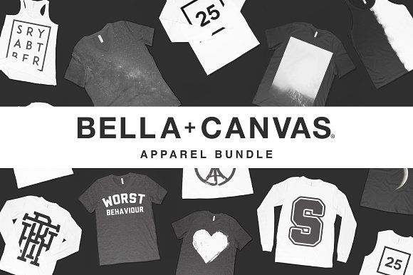 Bella Canvas Mockup Apparel Bundle Bella Canvas product mockups! Save 90% with this bundle! The most comprehensive Bella Canvas apparel bundle available anywhere. All mockups were created using genuine Bella Canvas products giving your designs the most realistic outcome possible! Save time and money with this Adobe Photoshop template and mockup bundle. Includes how to guide so beginners will have no trouble using our mockups. Get it today and begin creating beautiful graphics your customers…