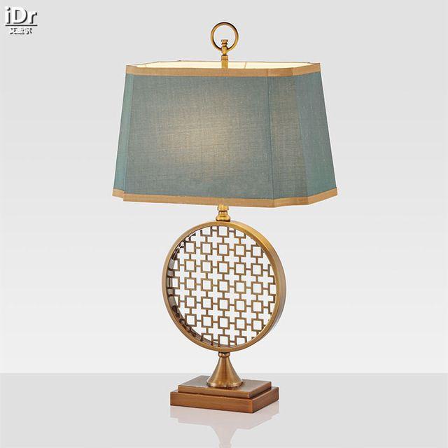 Новое золото из нержавеющей стали мода творческий современная американская минималистский спальня ночники свадьба настольные лампы OLU-0079