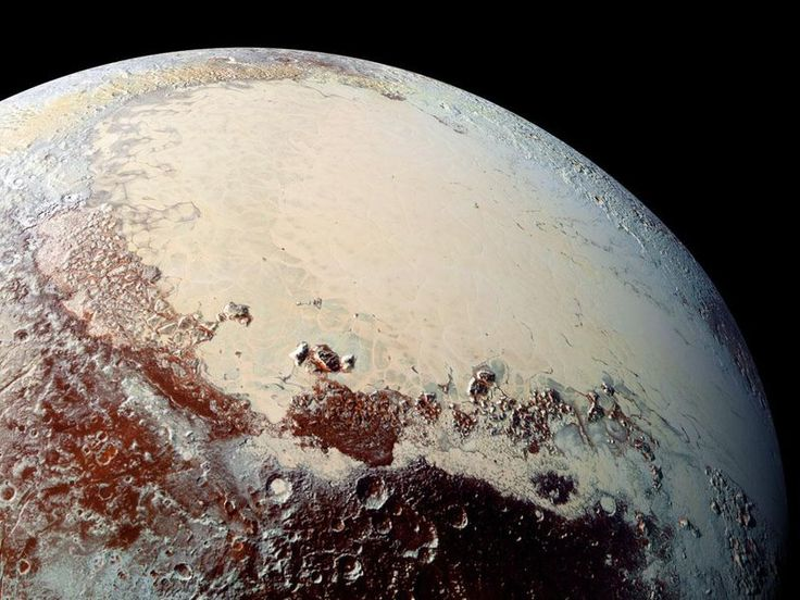 "How the Pull of an Icy ""Heart"" Sent Pluto's Poles Wandering - Using New Horizons data, scientists determine that the erstwhile planet has a more dynamic past than we thought. Pluto tends to get a reputation for being a frozen, changeless wasteland. But it now seems that an ice-filled basin on the dwarf planet's surface could actually control the rotation of the entire dwarf planet, according to 2 new studies published today..."