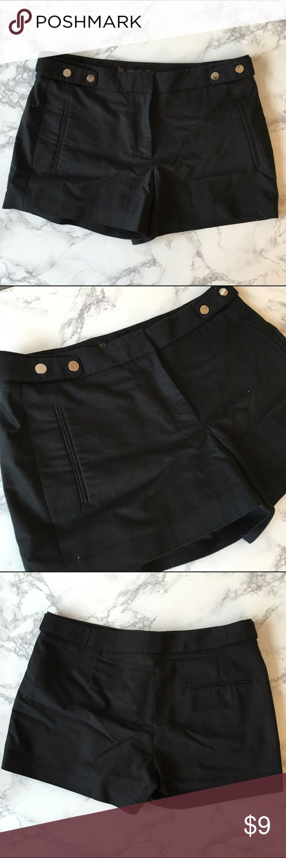 🎉Cyber Monday Sale🎉 Zara suit shorts Super cute suit shorts with a nice stud trim on the waist. Only worn a couple times. The sewing has come undone on the inside of one of the legs, but it's unnoticeable when you wear it. Zara Shorts