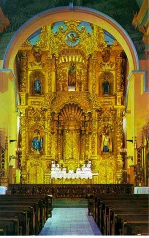 Altar De oro en San José Iglesia, Casco Antiguo, Ciudad de Panamá, Panamá