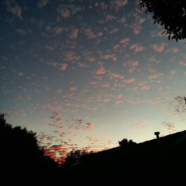 Sunset clouds... nearly missed it! . #goodthingilookedoutside #frankston #clouds
