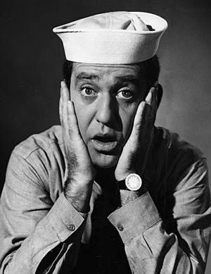 "Soupy Sales, famous American comedian, actor, and tv show host from the 1950-60's.  He was also a committed patriotic American and served in the US Navy: USS Randall in the South Pacific in WW2.  Soupy Sales ~""I'll probably be remembered for the pies, and that's all right."""