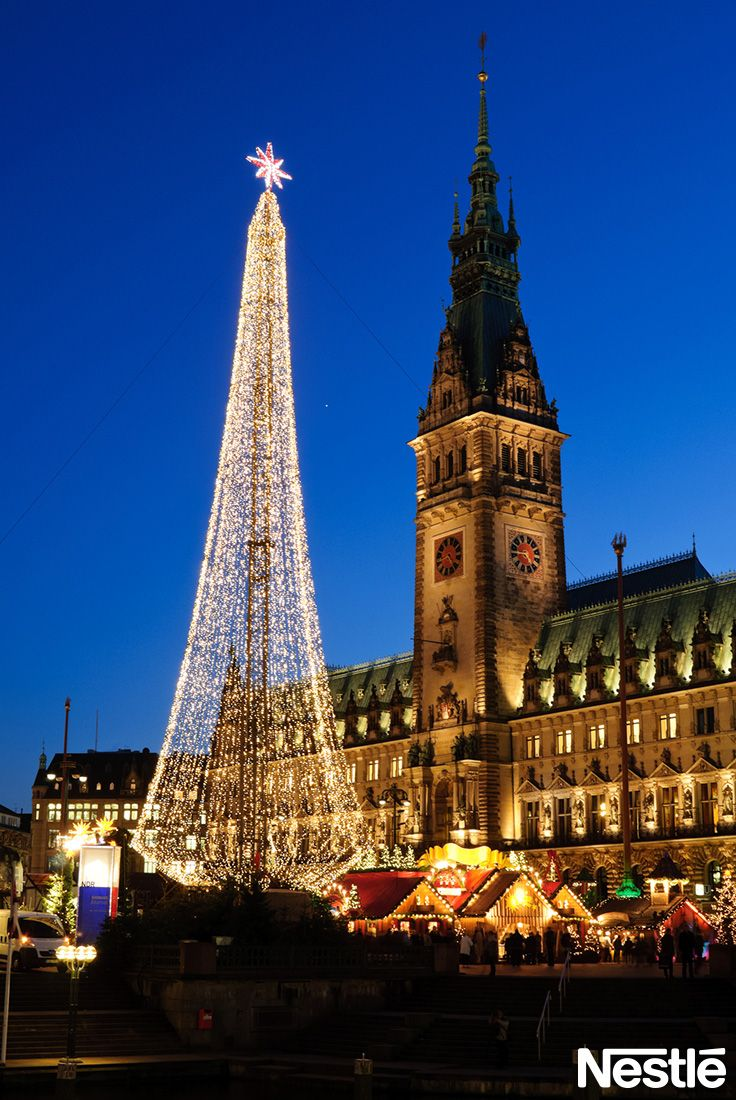 画像E: ドイツ ハンブルグ クリスマスイルミネーション♪  クリスマスツリー/クリスマス/Christmas