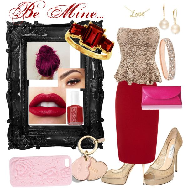 """""""Valentine outfit"""" by caryvanessa on Polyvore"""