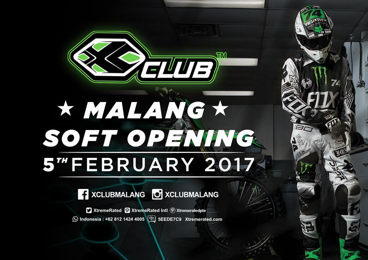 Come join us at XCLUB Malang Soft Opening 5th February 2017 at Mall Dinoyo City Be there!  #xtremerated #xclub #xclubmalang