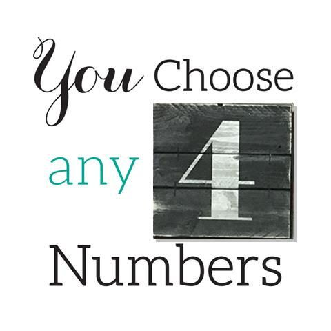NUMBER WALL ART Wooden numbers custom numbers by ElevenOwlsStudio