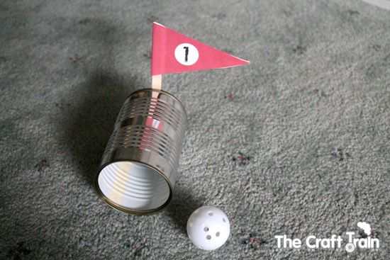 Tin can mini golf- fun indoors and out! Let the kids creat obstacles...