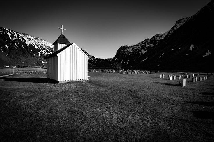Lone - Unstad chapel.