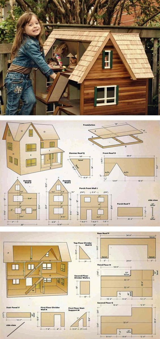 Doll House Plans - Wooden Toy Plans and Projects | WoodArchivist.com