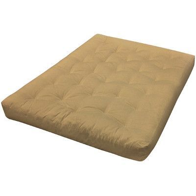 "Gold Bond 8"" Cotton Loveseat Futon Mattress Upholstery: Tan"
