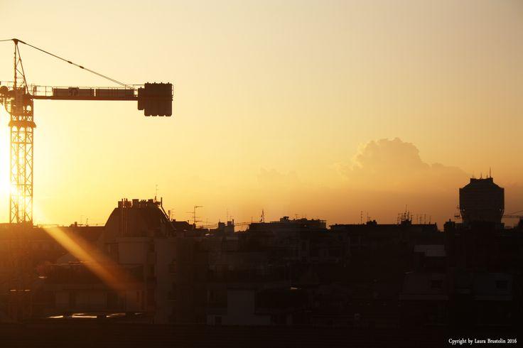 Milan-Italy #skyline #sunset  Laura Brustolin