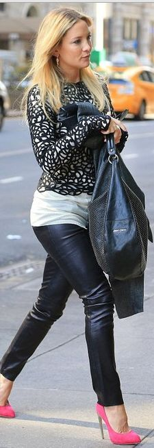 Kate Hudson: Shoes – Giuseppe Zanotti  Purse – Jimmy Choo  Pants – Plein Sud  ROCK IT KATE!! HOTT!