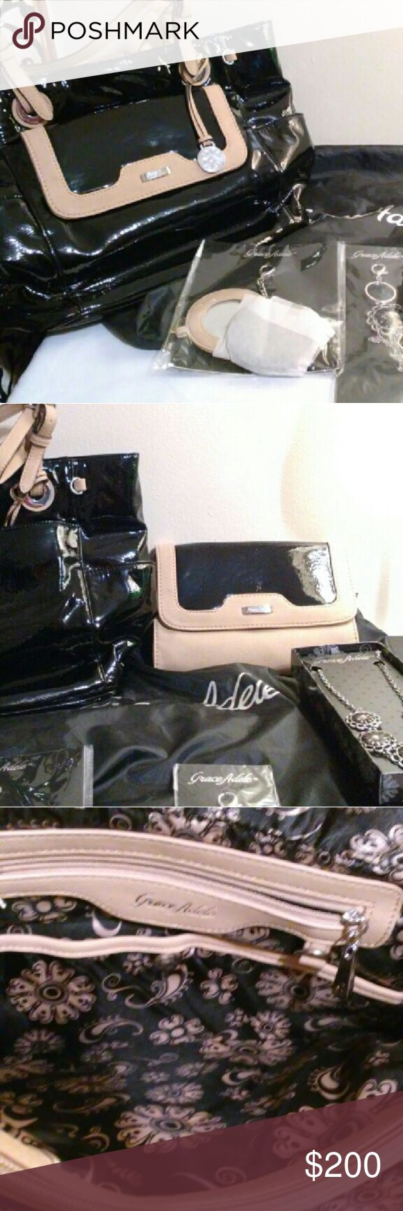 ✨GRACE ADELE TOTE 🌟✨SMALL PURSE N JEWELRY NEW✨ ✨Purse x2 + 🌟Jewelry✨ GRACE EDELE Bags Totes