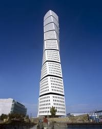 Turning Torso building in Malmo Sweden by architect Santiago Calatrava