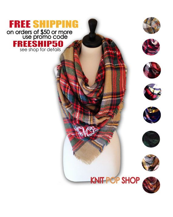 Blanket Scarf oversized plaid tartan zscarf SALE by KnitPopShop - just got this one!!  So excited!!