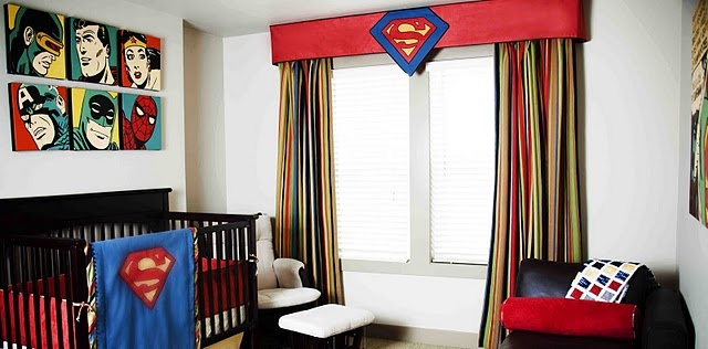Superhero boys bedroom - so cute!