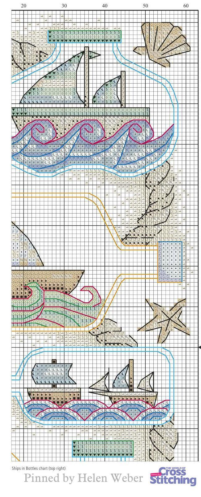 Ships In Bottles Stitch Patterns Cross Stitch Cross Stitch Patterns