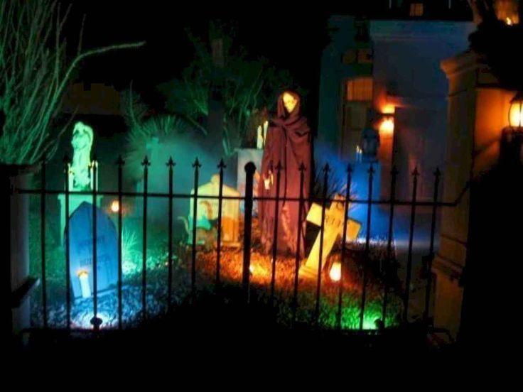 Amazing Diy Halloween Outdoor Lighting Ideas 19 Halloween Outside Halloween Diy Outdoor Halloween Outdoor Decorations