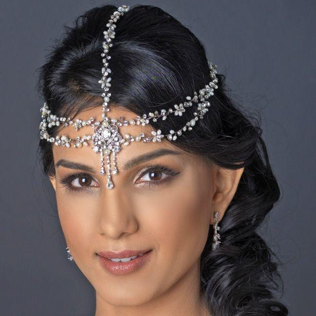 Freshwater Pearl & Rhinestone Accent Headband