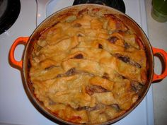 A recipe for Cipaille Or Cipate (Layered Meat Pie) made with boneless chicken, lean beef, lean pork, onions, salt pork, potatoes, salt, black pepper
