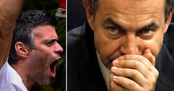 Leopoldo López, sostuvo una conversación la tarde del miércoles con el expresidente español José Luis Rodríguez Zapatero sobre