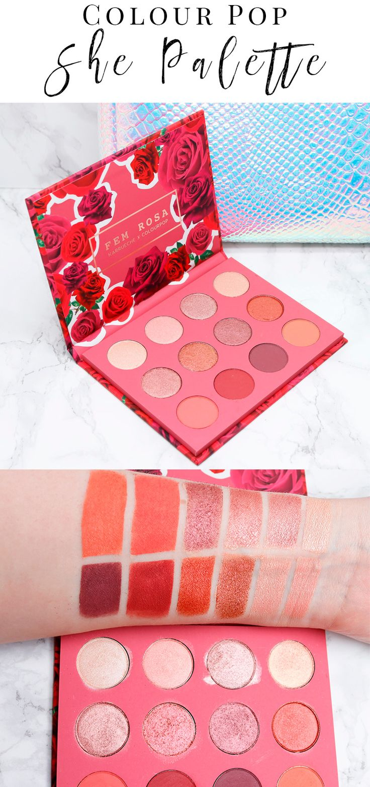 Colour Pop She Palette Review & Swatches. I love these mauves, pinks, peaches, plums, reds and gold. These colors look great on my pale skin. I also think they'll look fantastic on deeper skintones.