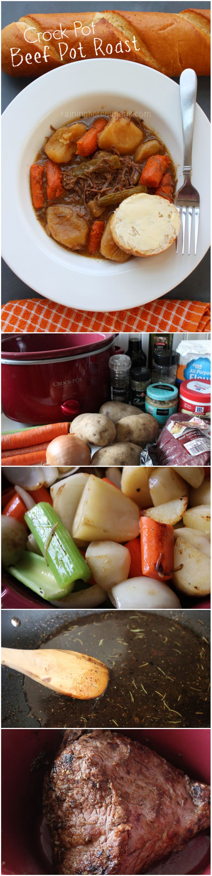 Crock Pot Beef Pot Roast - #slowcookerrecipes #crockpotrecipes #comfortfood #crockpotcooking